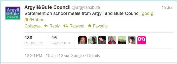argyll & bute tweet