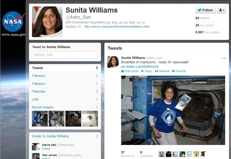 twitter in space