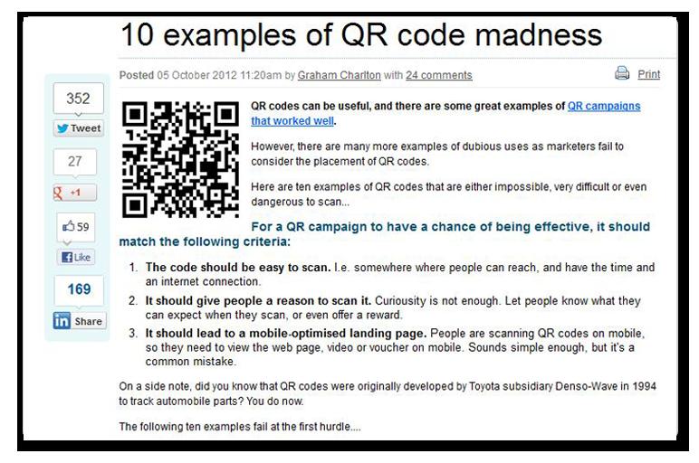 QR code article link
