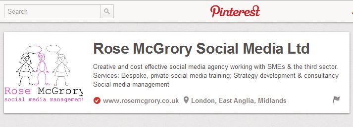 pinterest business page verified