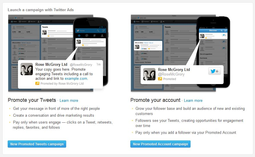 Rose McGrory Social Media Management - Twitter advertising for UK ...