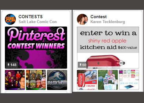 Pinterest contests competitions