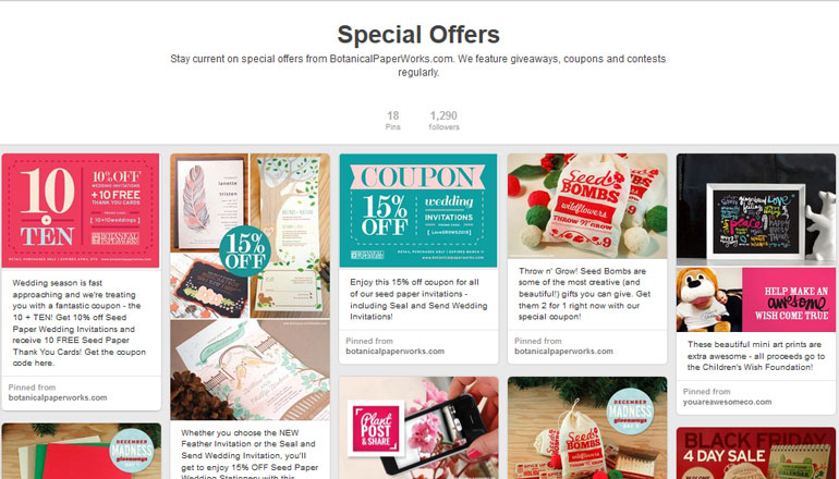 Pinterest special offers2