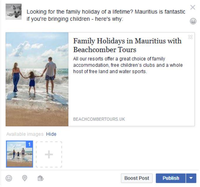 Facebook Link Preview- 2