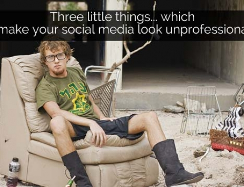 Three little things which make your social media look unprofessional
